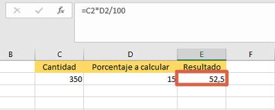 Cómo sacar o calcular el porcentaje de una cantidad específica en Excel multiplicando el valor por el porcentaje directamente paso 3