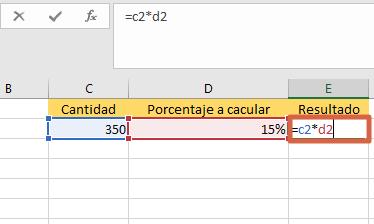 Cómo sacar o calcular el porcentaje de una cantidad específica multiplicando las celdas paso 2
