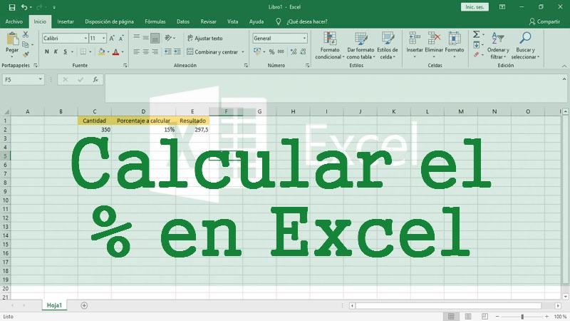 Cómo sacar o calcular el porcentaje en Excel