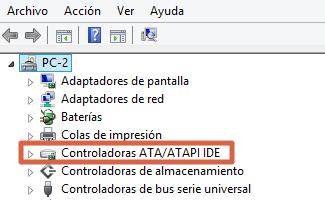 Cómo solucionar Disco duro al 100% en Windows 10 actualizando drivers SATA paso 3