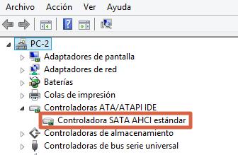 Cómo solucionar Disco duro al 100% en Windows 10 actualizando drivers SATA paso 4