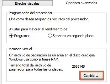Cómo solucionar Disco duro al 100% en Windows 10 reiniciando la memoria virtual paso 4