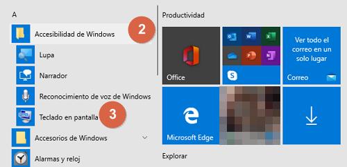 Cómo utilizar el teclado en pantalla de Windows paso 3