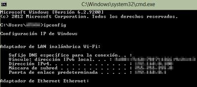 Cómo ver la dirección IP privada en Windows paso 3