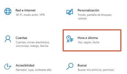 Configurar el idioma del teclado en Windows paso 2
