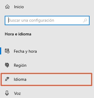 Configurar el idioma del teclado en Windows paso 3