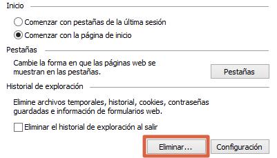 Consejos para mejorar la navegación al configurar las opciones de Internet de Windows paso 4