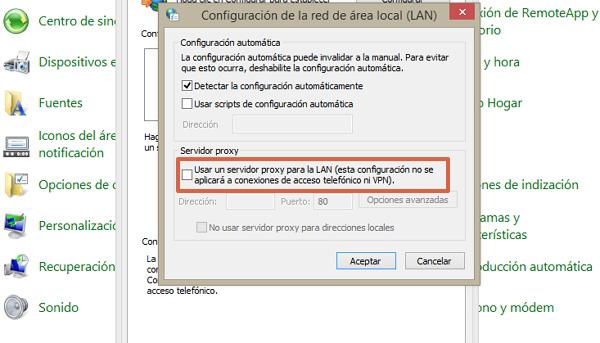 Error de activación de productos en Office cómo solucionarlo desactivando el Proxy de Internet Explorer