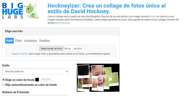 Hockneyzer como programa para editar fotos.