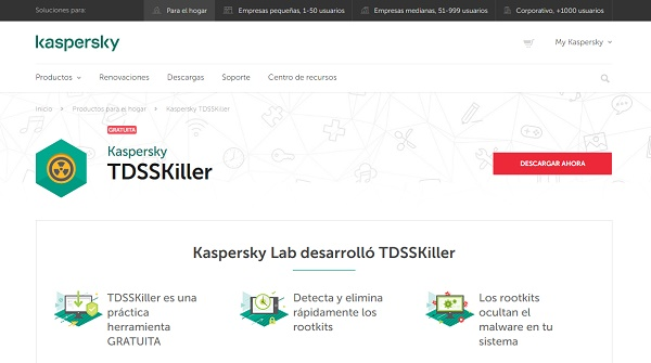 Kaspersky TDSSKiller para pendrive o memoria USB