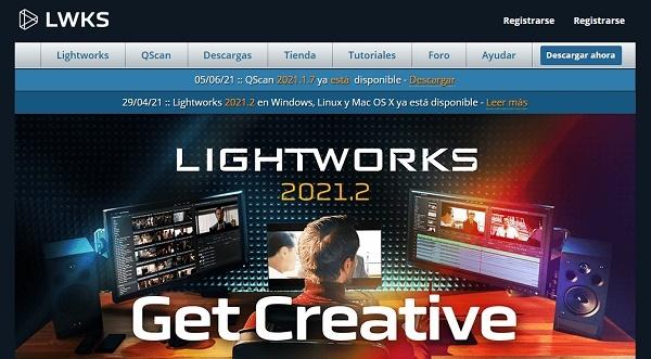 LightWorks como programa para hacer o editar videos