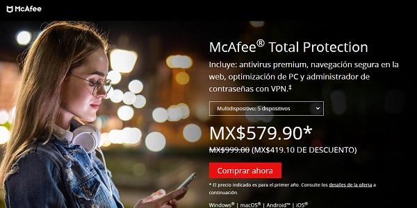 McAfee Antivirus para pendrive o memoria USB