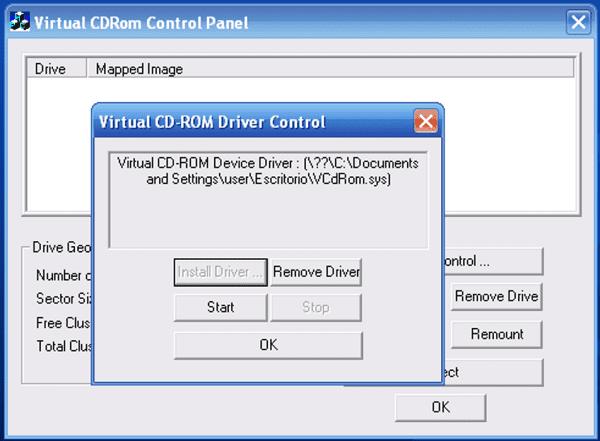 Microsoft Virtual CD-Rom Control Panel