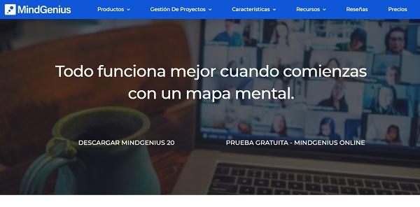MindGenius como programa para hacer o crear mapas conceptuales