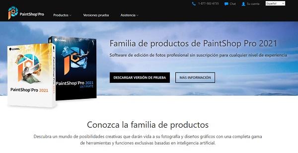 PaintShop Pro como programa para editar fotos
