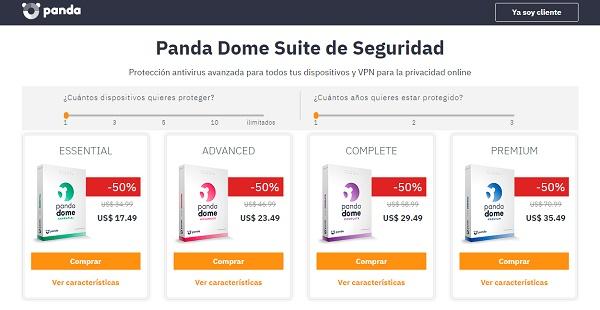 Panda Dome antivirus para pendrive o memoria USB