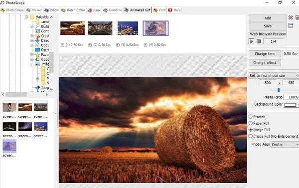 Photoscape como programa para editar fotos.