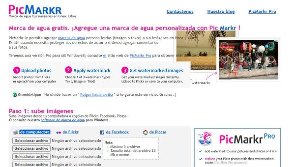 PicMarkr como programa para editar fotos