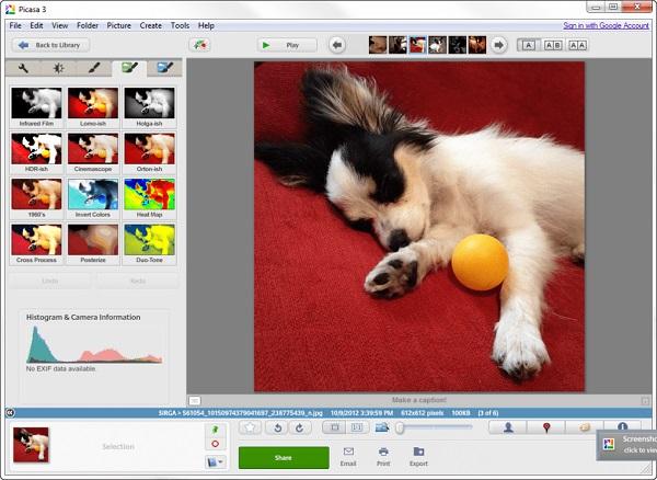 Picasa como programa para editar fotos