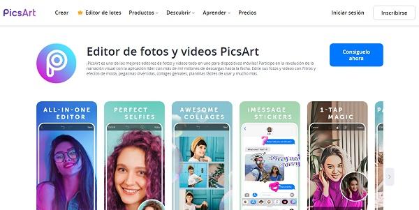 PicsArt Photo Studio como programa para editar fotos