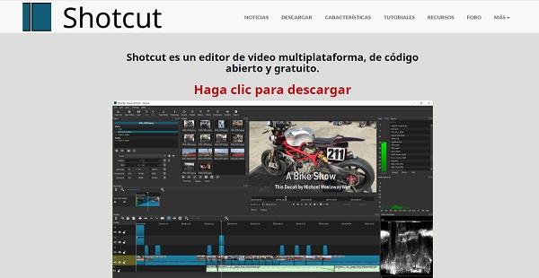 Shotcut como programa para hacer o editar videos