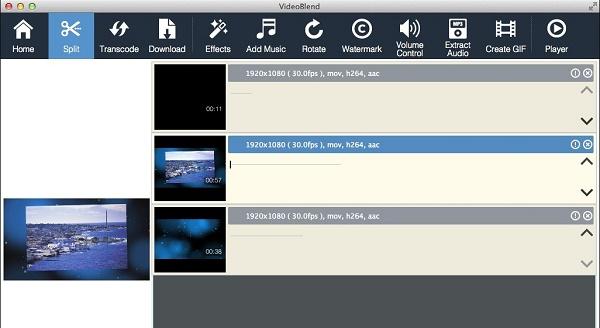 VideoBlend como programa para hacer o editar videos