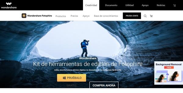Wondershare Fotophire como programa para editar fotos