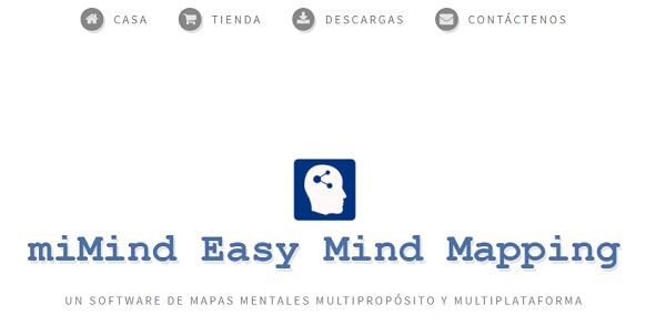 miMind como programa para hacer o crear mapas conceptuales.