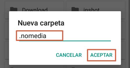Cómo evitar que vuelvan a aparecer los archivos thumbnails en un móvil Android paso 8