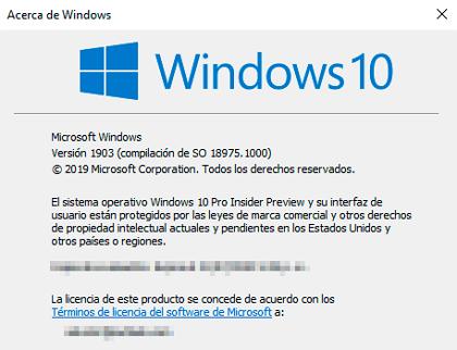Cómo saber la versión de Windows 10 paso 3