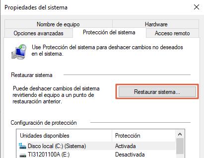 Error 43 de solicitud de descriptor de dispositivo en Windows 10 causas y soluciones. Restaurar el Sistema