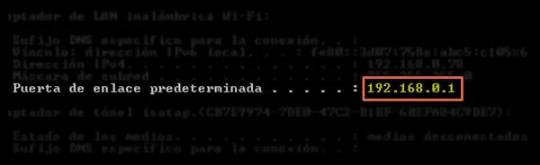 Puerta de enlace predeterminada para configurar un router