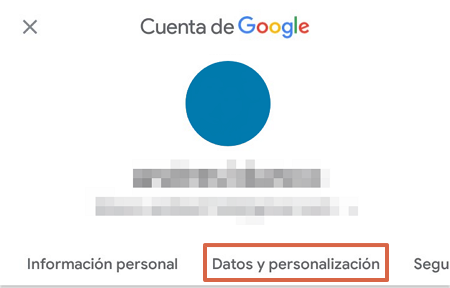 Cómo acceder al historial de navegación en Google Mi Actividad desde Android paso 3