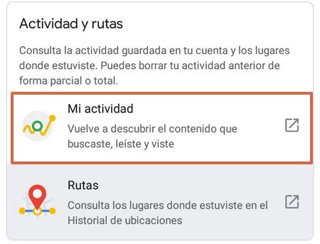 Cómo acceder al historial de navegación en Google Mi Actividad desde Android paso 4