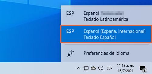 Cómo añadir el español a tu teclado paso 2