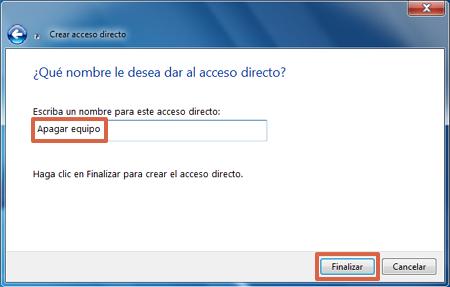 Cómo apagar tu ordenador con Windows usando un boton de panico paso 3