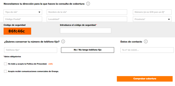 Cómo comprobar si tienes cobertura de fibra en Orange
