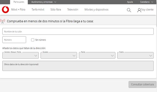 Cómo comprobar si tienes cobertura de fibra en Vodafone