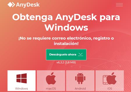 Cómo descargar AnyDesk en Windows paso 1