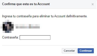 Cómo eliminar definitivamente tu cuenta de Facebook. Eliminar tu cuenta de Facebook. Paso 5