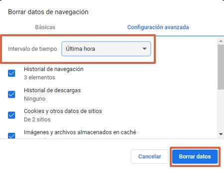 Cómo eliminar todo el historial de navegación de Google Chrome en la PC paso 3