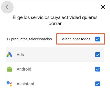 Cómo eliminar todo el historial de navegación de Google Mi Actividad paso 3