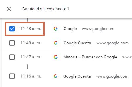 Cómo eliminar un elemento del historial de navegación de Google Chrome en la PC paso 1