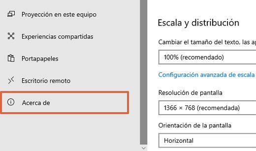 Cómo saber cuál es la versión de Windows en mi PC desde las configuraciones paso 4