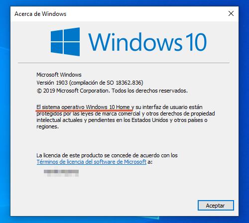 Cómo saber cuál es la versión de Windows en mi PC utilizando los atajos del teclado paso 3