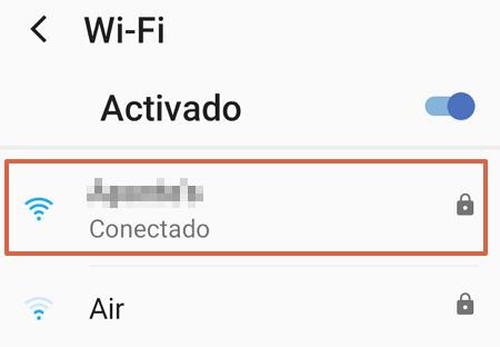 Cómo ver la contraseña de mi Wifi en un telefono Android sin root paso 3