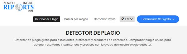 Detector de Plagio Search Engine Reports