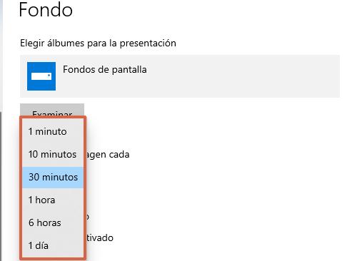 Fondos de pantalla de Windows 10... Cómo crear una secuencia de fondos. Paso 6