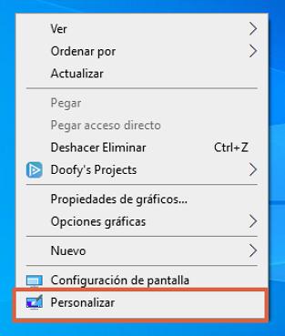 """Fondos de pantalla de Windows 10... Cómo poner un fondo diferente. Desde la función """"Personalizar"""". Paso 2"""