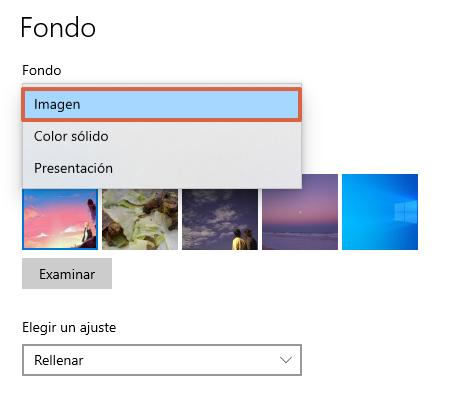 """Fondos de pantalla de Windows 10... Cómo poner un fondo diferente. Desde la función """"Personalizar"""". Paso 4"""